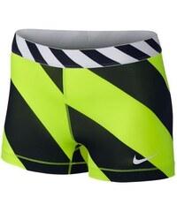 """NIKE2 Dámské šortky Nike Pro Diagonal Stripe 3"""" M ŽLUTÁ - ČERNÁ"""