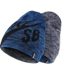 NIKE2 Čepice Nike SB Wrap Beanie (oboustranná) UNIVERZÁLNÍ MODRÁ - ŠEDÁ