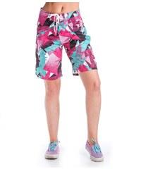Plavky Meatfly Swimshorts W Green/Pink B