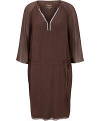 s.Oliver Premium Tunika-Kleid aus Seide