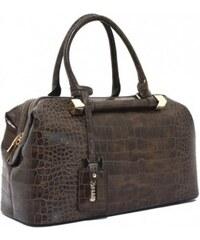 Kávově hnědá kufříková kabelka Bessie London