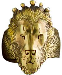 Michi Bague Lion - Argent plaqué or