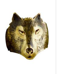 Michi Bague loup - argent plaqué or