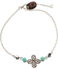 Oscar Bijoux Bracelet en Argent - Trèfle et Perles Turquoise