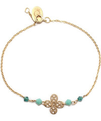 Oscar Bijoux Bracelet en Plaqué Or -Trèfle et Perles Turquoise