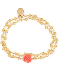 Oscar Bijoux Bracelet en Or avec une Rose Corail Emma
