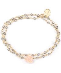 Oscar Bijoux Bracelet en Or avec un Pendentif Rose Agathe