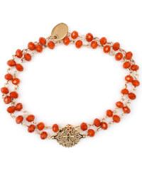 Oscar Bijoux Bracelet Rosace en Or et Perles Corail Amandine