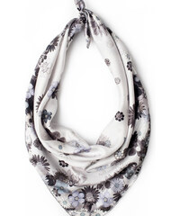 Charlotte Hudders foulard Diamonds and Daisies - Ice Blue