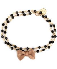 Oscar Bijoux Bracelet en Or Perles et Noeud Scarlett