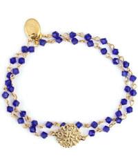Oscar Bijoux Bracelet Rosace en Or et Perles Bleues Katarina