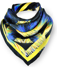 Kris Jane Foulard Carré en Soie Imprimé Multicolore Gaia