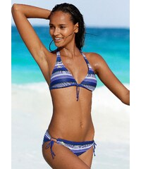 Große Größen: Triangel-Bikini, adidas Performance, blau gestreift, Gr.34-42