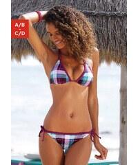 Große Größen: Triangel-Bikini, Buffalo, lila kariert, Gr.32-40