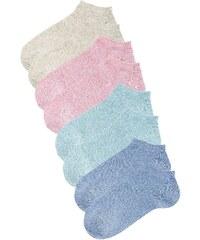 Große Größen: Go in Füßlinge (8 Paar), Sort. A: 2x mint mel. + 2x beige mel. + 2x rosé mel. + 2x jeans, Gr.35-38-43-46