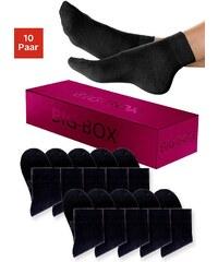 Große Größen: Kurzsocken (10 Paar) mit druckfreiem Bündchen in der Big-Box, 10x schwarz, Gr.35-38-39-42