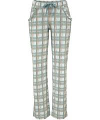 Große Größen: LASCANA Pyjamahose aus weichem Singlejersey, mint kariert, Gr.32/34-44/46