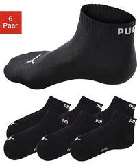 Große Größen: PUMA Sportliche Kurzsocken (6 Paar) mit Rippbündchen, 6x schwarz, Gr.35-38-43-46