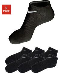 Große Größen: Nike Sport- und Freizeitfüßlinge (6 Paar) mit Mittelfußgummi, 6x schwarz, Gr.L (42-46)-M (38-42)