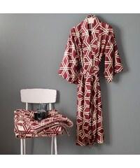 Große Größen: Kimono, Zucchi, »Esagon«, mit Rautenmuster, schwarz, Gr.S/M-S/M