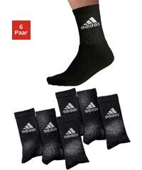 ADIDAS PERFORMANCE Große Größen: adidas Klassische Sportsocken (6 Paar) mit Frottee, 6x schwarz, Gr.35-38-43-46