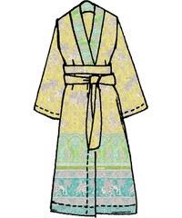 Große Größen: Kimono, Bassetti, »Jasmine«, mit orientalischen Motiven, gelb, Gr.S/M-S/M