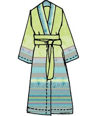 Große Größen: Kimono, Bassetti, »Tiziano«, mit verschiedenen Mustern, grün, Gr.L/XL-L/XL