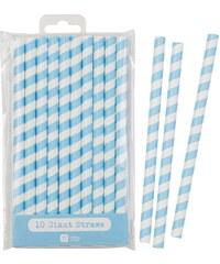 Talking Tables Papírové slámky Jumbo Blue - set 10 ks