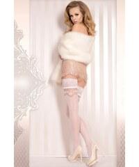 Ballerina Luxusní samodržící punčochy Wedding 372 bílá S/M