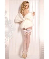 Ballerina Luxusní samodržící punčochy Wedding 375 bílá S/M