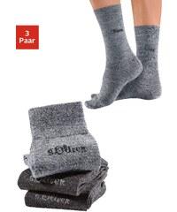 Große Größen: s.Oliver RED LABEL Bodywear Socken (3 Paar) außen mit Wolle, Made in Germany, 2x anthrazit + 1x grau, Gr.35-38-39-42