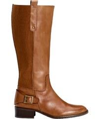 Große Größen: sheego XL/XXL-Weitschaft-Stiefel aus Leder, cognac, Gr.37-44