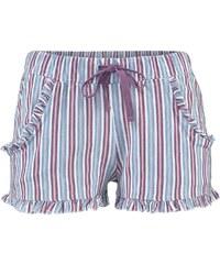 Große Größen: LASCANA Shorts mit dezentem Rüschenbesatz, lila gestreift, Gr.32/34-44/46
