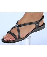 Große Größen: Siebi´s® Bade-Sandalette mit Zier-Applikation, schwarz, Gr.36-41