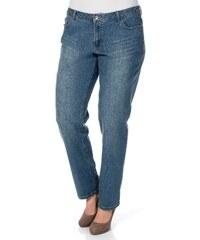 Große Größen: sheego Denim Boyfriend Stretch-Jeans, dark blue used, Gr.92-104