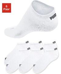 Große Größen: PUMA Sportliche Füßlinge (6 Paar) in klassischer Form, 6x weiß, Gr.35-38-43-46