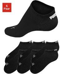 Große Größen: PUMA Sportliche Füßlinge (6 Paar) in klassischer Form, 6x schwarz, Gr.35-38-43-46