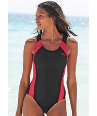 Große Größen: Badeanzug, PUMA, schwarz-pink, Gr.XL(42)-S(36)