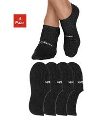 Große Größen: s.Oliver RED LABEL Bodywear Offene Füßlinge (4 Paar) mit verstärkter Ferse und Spitze, 4x schwarz, Gr.35-38-39-42
