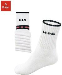 Große Größen: H.I.S Sportsocken (6 Paar) mit Frottee & verstärkten Belastungszonen, 6x weiß, Gr.35-38-47-48