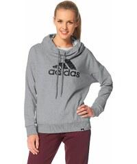Große Größen: adidas Performance TOMBOY LOGO HOOD Kapuzensweatshirt, Grau-Meliert, Gr.L (44/46)-M (40/42)