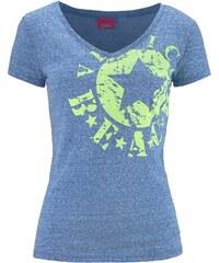 Große Größen: Shirt, Venice Beach, blau meliert, Gr.32/34-44/46