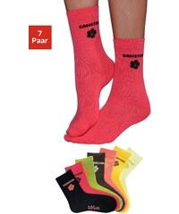 Große Größen: s.Oliver RED LABEL Bodywear Wochentagssocken (7 Paar) in leuchtenden Farben, 7x farblich sortiert, Gr.19-22-39-42