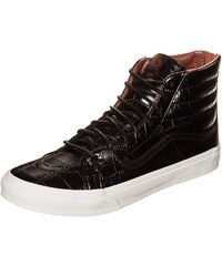 Große Größen: VANS Sk8-Hi Slim Zip Sneaker, schwarz / weiß, Gr.4.5 US - 36.0 EU-8.5 US - 41.0 EU