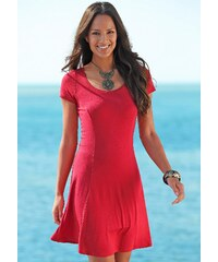 Große Größen: Beachtime Strandkleid, rot, Gr.34-40