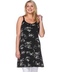 Große Größen: sheego Casual Florales Jerseykleid, schwarz, Gr.40-46