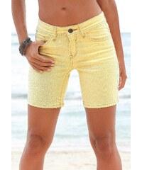 Große Größen: s.Oliver RED LABEL Beachwear Shorts zum Krempeln, gelb, Gr.36-44
