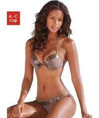 Große Größen: Push-up-Bikini, Bruno Banani, stein, Gr.32 (65)-38 (75)