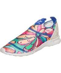 Große Größen: adidas Originals ZX Flux ADV Smooth Slip-On Sneaker Damen, bunt / weiß, Gr.3.5 UK - 36 EU-8 UK - 42 EU