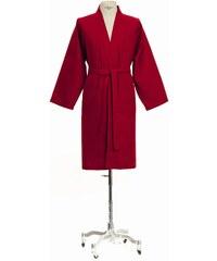 Große Größen: Kimono, Möve, »Homewear«, Piquée-Oberfläche, rubin, Gr.L-M